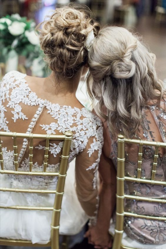 damigella d'onore e sposa
