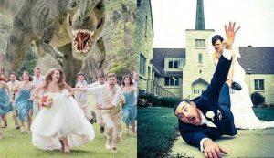 sposi che si divertono al matrimonio