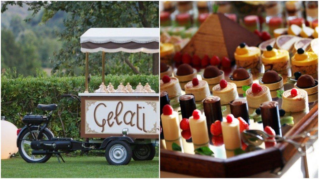 gelati e dolci matrimonio