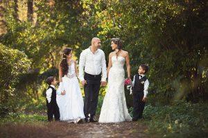 sposi con figli
