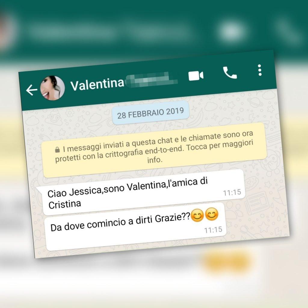 testo whatsapp da sposa vera