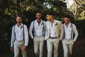 sposo e groomsman