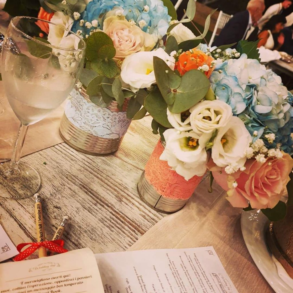 fiori matrimonio in latte