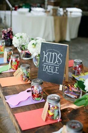 tavolo dei bambini nell'assegnazione dei posti