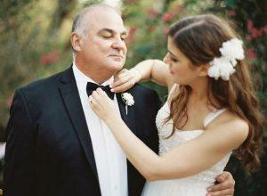 il padre della sposa con figlia