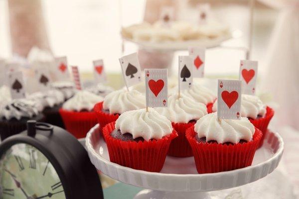 cupcake tema alice nel paese delle meraviglie film disney