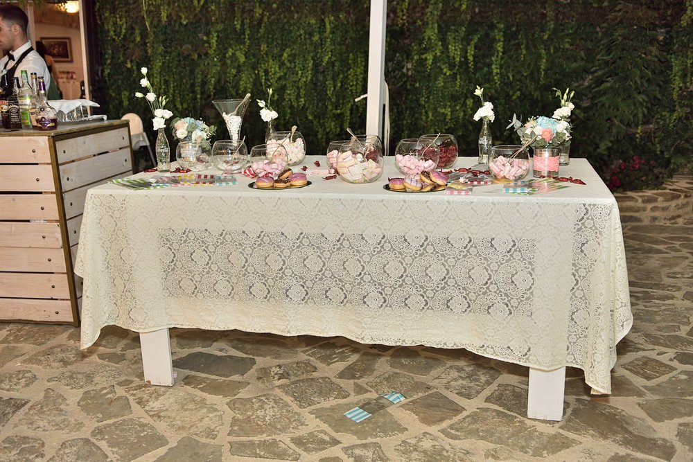candy corner wedding day